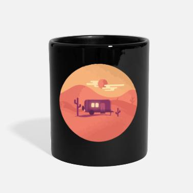 desert camping sunset - Full Color Mug