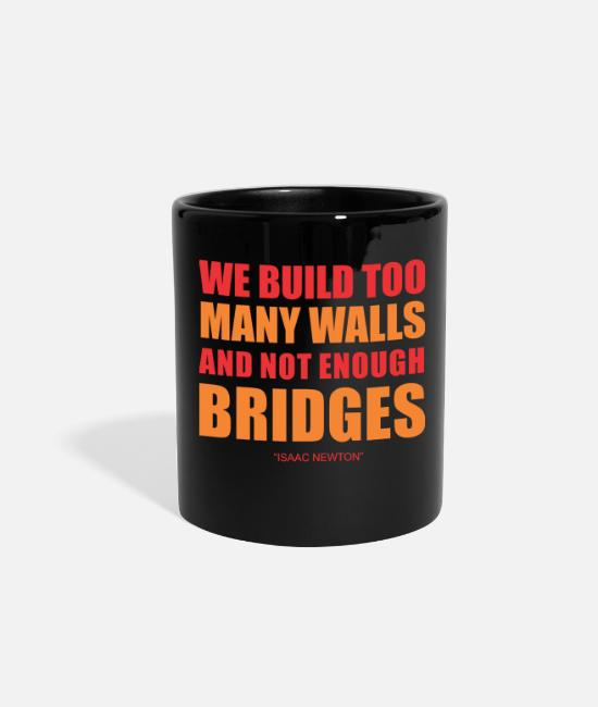 Enough Mugs & Cups - Issac Newton Quote - Full Color Mug black