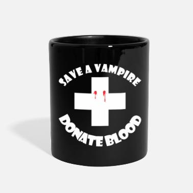 Vampire Save A Vampire Donate Blood Halloween - Full Color Mug