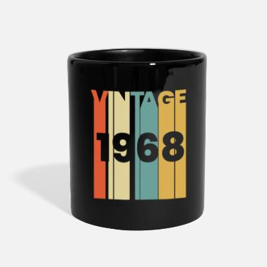 Date 1968 birthday born in present vintage gift year 50 - Full Color Mug