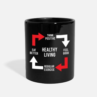 Healthy Healthy Living Diagram - Full Color Mug