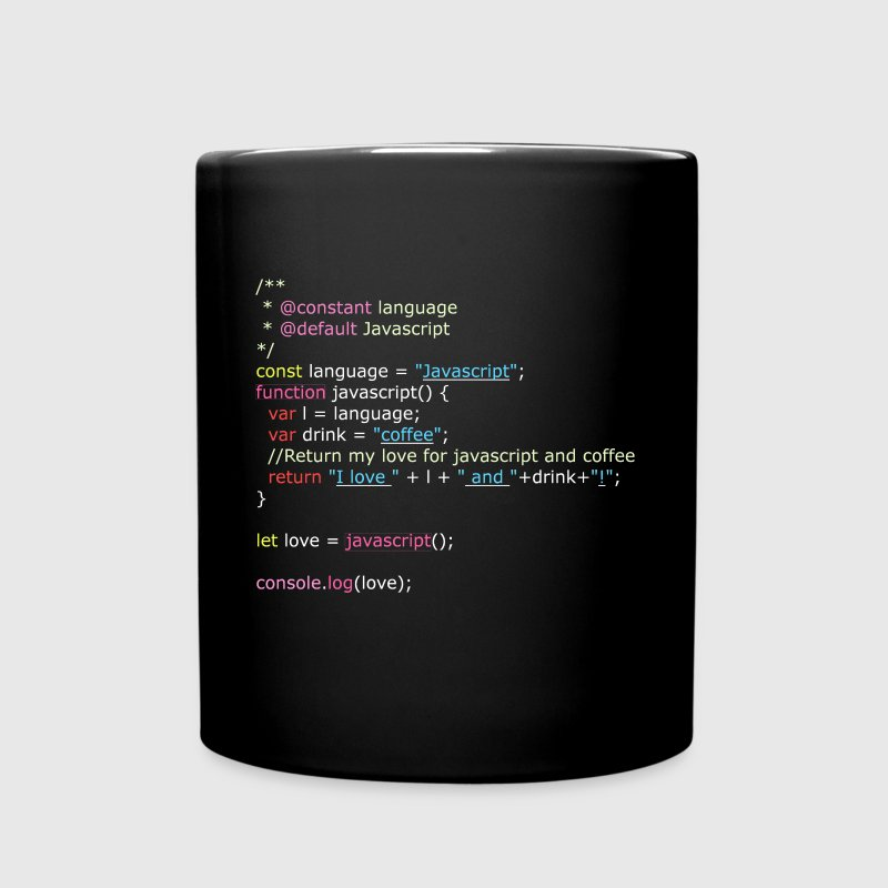 I Love Javascript (Mug) - Full Color Mug