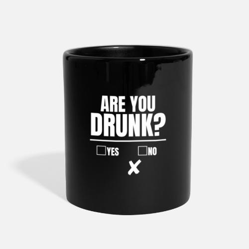 Are You Drunk Yes No Sobriety Test Drinking Game Full Color Mug