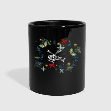 Funny Helicopter - Holly Gifts Bows Snowflakes - Full Color Mug
