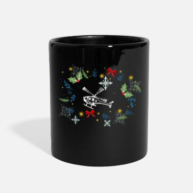 Helicopter Funny Helicopter - Holly Gifts Bows Snowflakes - Full Color Mug