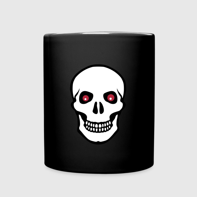 skull and red eyes - Full Color Mug
