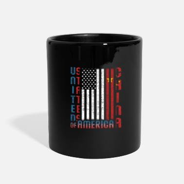 Forbidden City Half USA Half Chinese Home Gift Idea - Full Color Mug