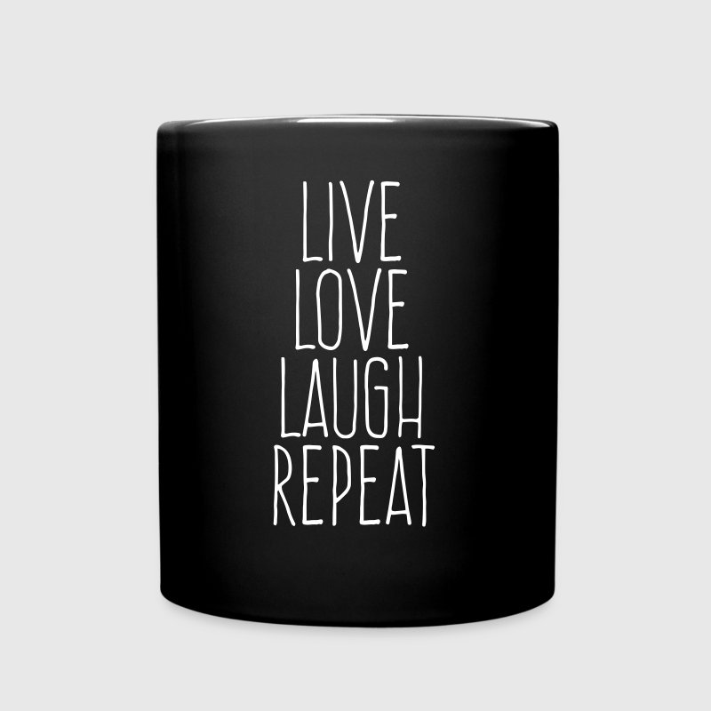 live love laugh repeat - Full Color Mug