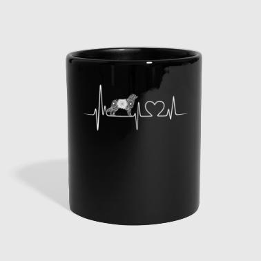 australian shepherd heartbeat - Full Color Mug