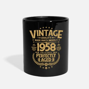 50th Birthday Vintage 60th Birthday Funny Tshirt 1958 Perfectly Aged - Full Color Mug