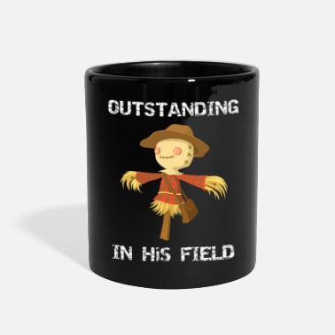 Fall Fall Scarecrow Out Standing in His Field - Full Color Mug