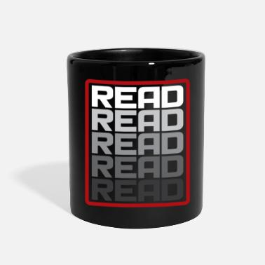 Read Read Read Read funny reading gift present - Full Color Mug