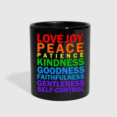 Fruit Fruit of the Spirit - Christian statement design - Full Color Mug