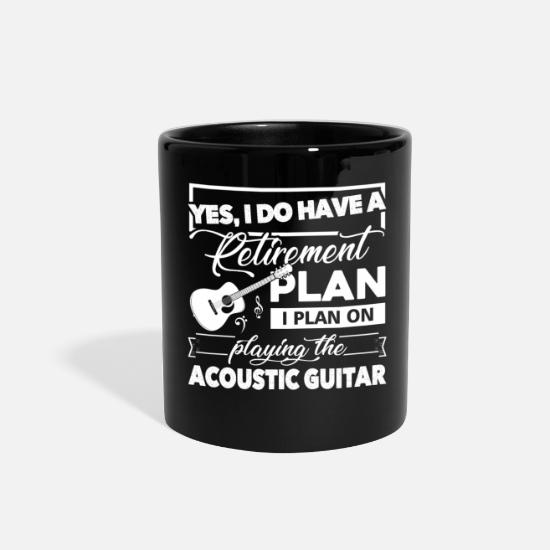 Retirement Mugs & Drinkware - Acoustic Guitar Retirement Plan Shirt - Full Color Mug black