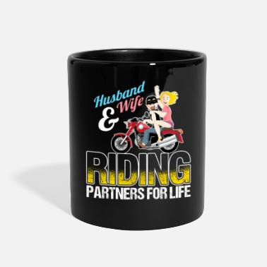 Husband And Wife Quotes Husband And Wife Riding Partners For Life - Full Color Mug