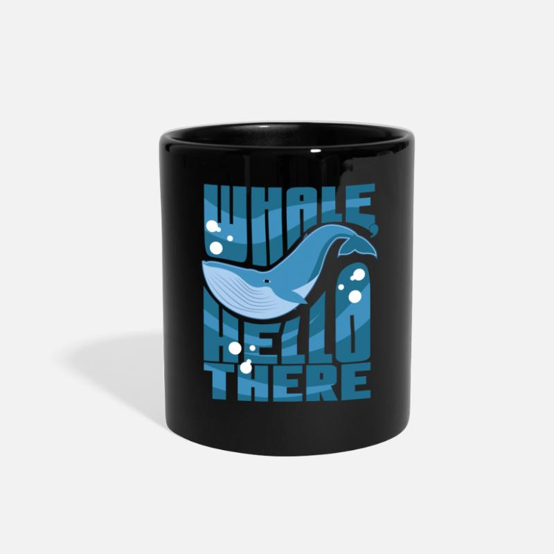 Whale Mugs & Drinkware - Whale Hello There - Full Color Mug black
