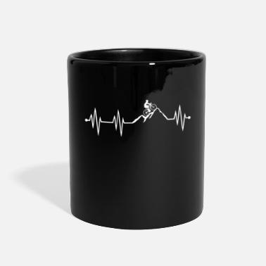 Mountain Biking Mountain Bike Heartbeat biking - Full Color Mug