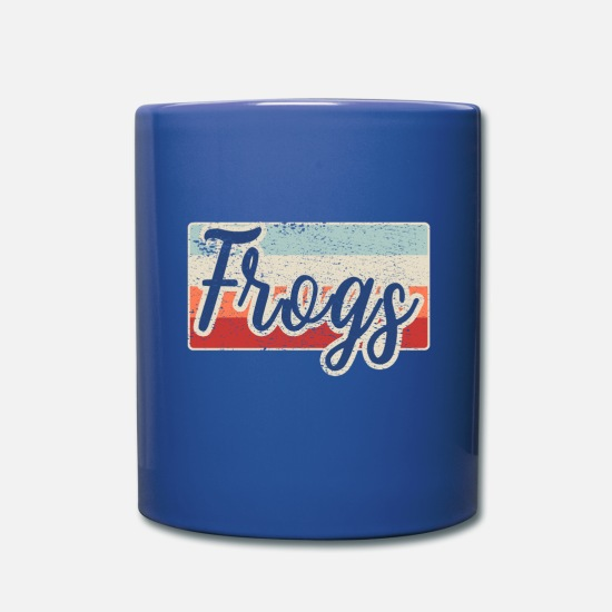 Frog Prince Mugs & Drinkware - Vintage Frog Frogs - Full Color Mug royal blue
