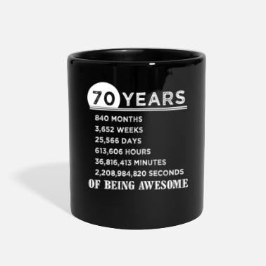 Birthday 70th Birthday Gifts 70 Years Old of Being Awesome - Full Color Mug