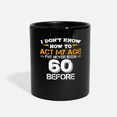 Years Funny Birthday Gift 60 Years Sixty Born in 1958 - Full Color Mug