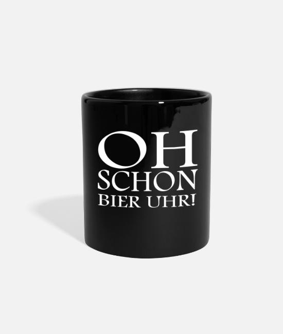 Celebrate Mugs & Cups - Oh Even beer o'clock! funny saying - Full Color Mug black
