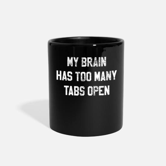 Ladies Mugs & Drinkware - Confused thoughts Overloaded computer science - Full Color Mug black