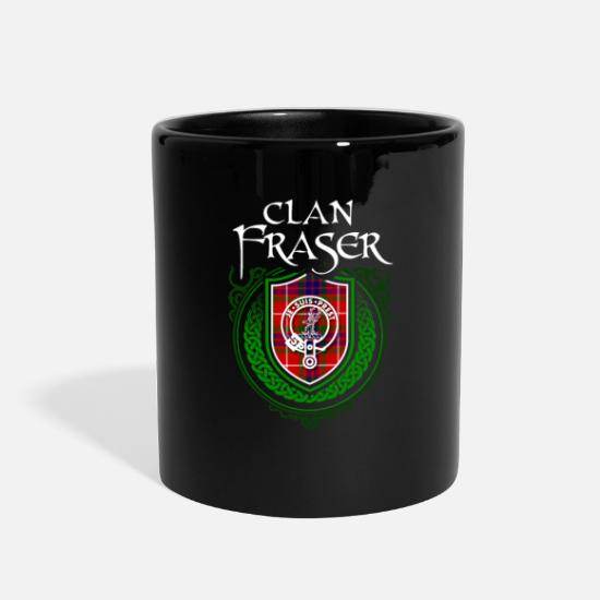 Fraser Surname Scottish Clan Tartan Crest Badge Full Color