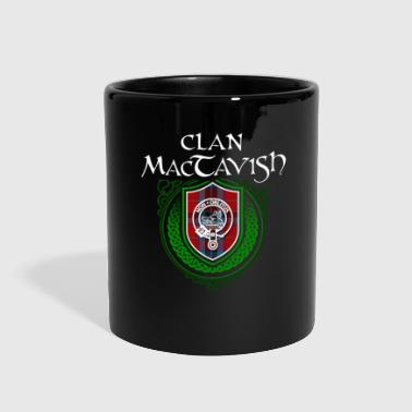 Celtic MacTavish Surname Scottish Clan Tartan Crest Badge - Full Color Mug