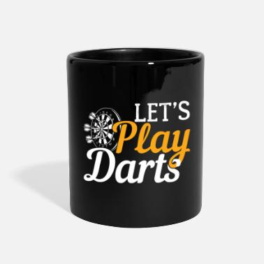 Let's Play Darts | Dartboard- Gift - Full Color Mug