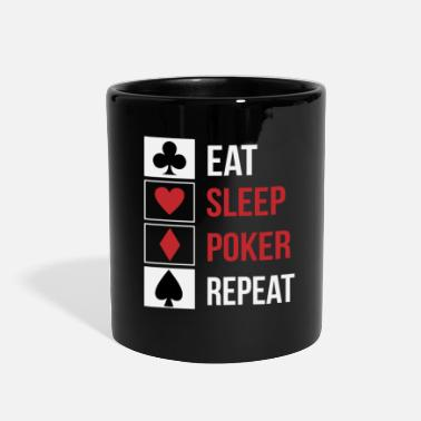 Omaha Eat Sleep Poker Repeat - Full Color Mug