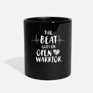Surgery The Beat Goes On Open Heart Warrior - Full Color Mug