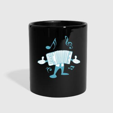 Irish Girls Accordion Man Melodeon Piano Accordion Notes Gift - Full Color Mug