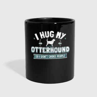 Hug Me Funny Otterhound Saying Dog Owner Gift - Full Color Mug