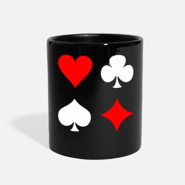 Pik Poker Cross Pik Heart Check - Full Color Mug
