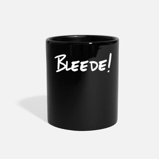 Saxony Mugs & Drinkware - Bleede! word from saxony funny - Full Color Mug black
