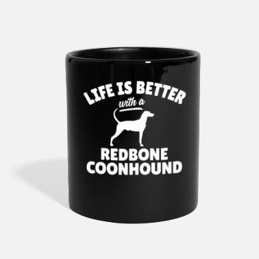 Witty Witty Redbone Coonhound Saying - Full Color Mug