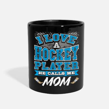 Hockey love hockey mom player sports - Full Color Mug
