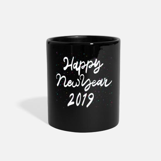Happy Mugs & Drinkware - Happy New Year 2019 - Full Color Mug black