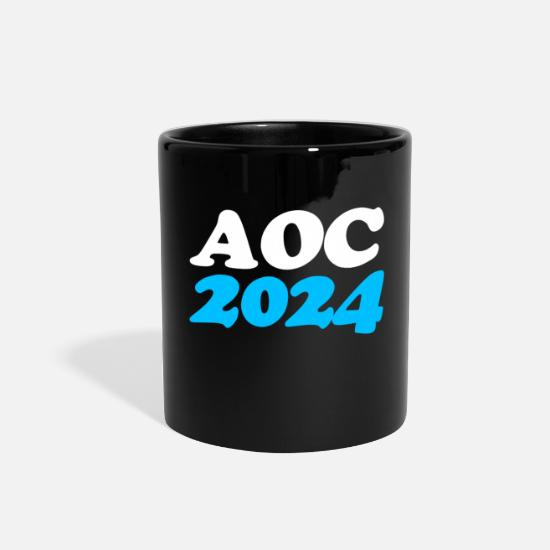 2024 Mugs & Drinkware - AOC Alexandria OcasioCortez 2024 - Full Color Mug black
