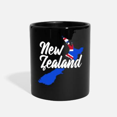 Zealand New Zealand Flag New Zealanders Gift Banner - Full Color Mug