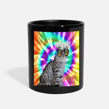 Hippie Hippie Cat - Full Color Mug