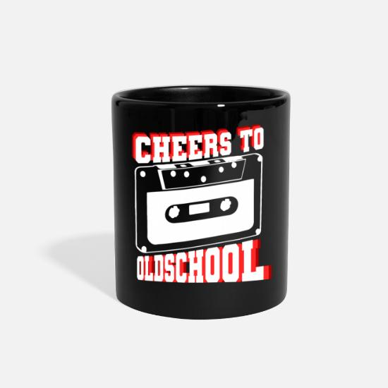 Gift Idea Mugs & Drinkware - Cheers To Oldschool - Full Color Mug black