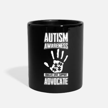 Aspergers Autism Awareness Educate Love Support Advocate - Full Color Mug