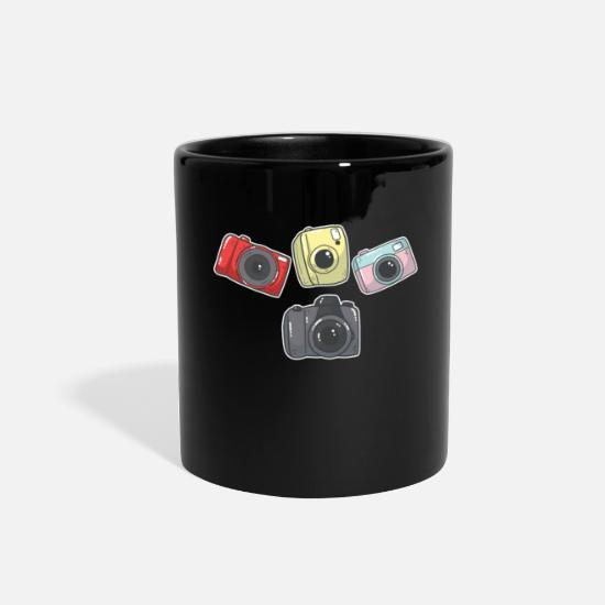 Reunion Mugs & Drinkware - Photographer Camera Collection Groupie for Teens - Full Color Mug black