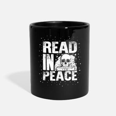 Halloween Reading Book Read in Peace Books Reading Halloween Book Lover - Full Color Mug