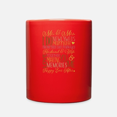 Bachelorette Wedding Subway Art - Full Color Mug