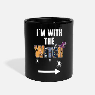 I'm With The Witch Shirt Funny Halloween Couple - Full Color Mug