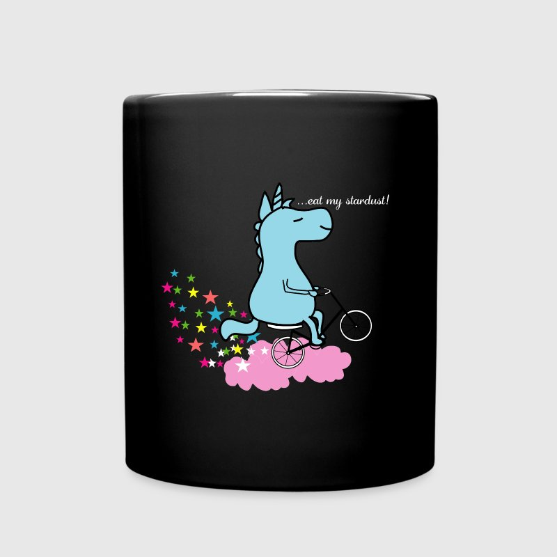 Eat my Stardust Unicorn on Bicycle Clouds & Stars - Full Color Mug