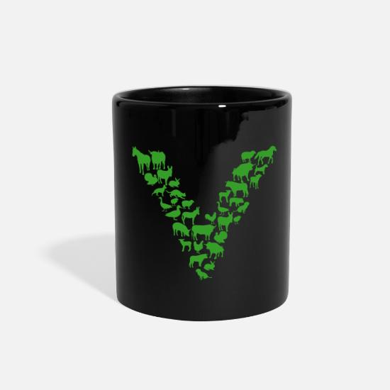 Vegan Mugs & Drinkware - Vegan - Full Color Mug black