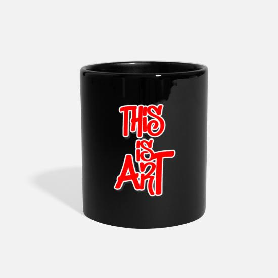 Artist Mugs & Drinkware - Graffiti Feelings Sprayer Urban Style - Full Color Mug black